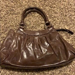 Hobo international dark chocolate purse